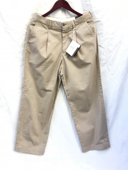 RICCARDO METHA Cotton Twill 1Tac Trousers Made in Italy Beige