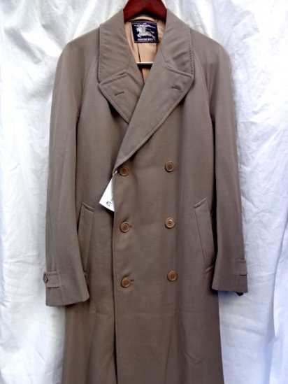40's  ~ Vintage Dead Stock Burberry's Wool Double Breasted Coat Made in ENGLAND Khaki