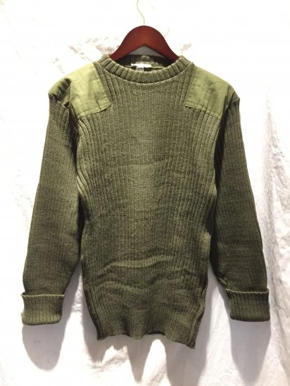 80's ~ Vintage Dead Stock British Army Command Sweater Olive / 1