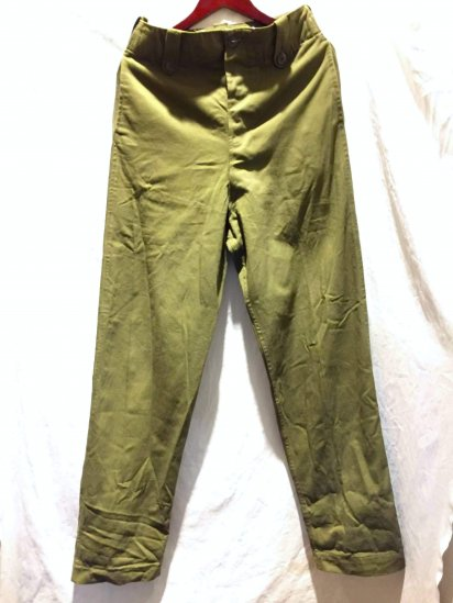 60's Vintage British Army Overall Green Trousers Olive