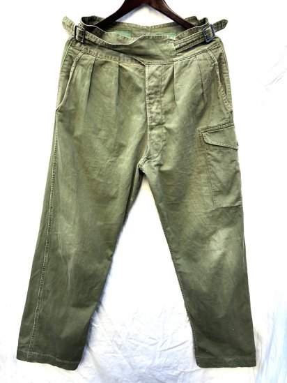 60's ~ 70's Vintage British Army 1950 Pattern Jungle Trousers Olive / 1