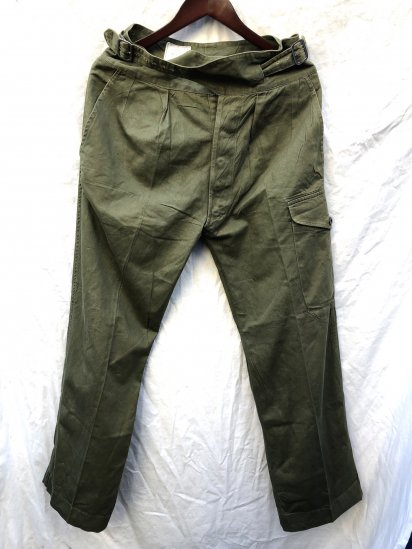 60's ~ Vintage British Army 1950 Pattern Jungle Trousers Olive / 2