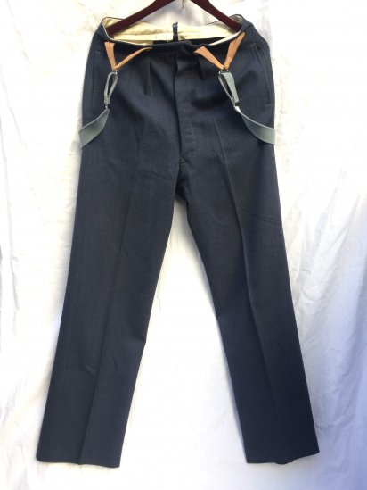50's ~ 60's Vintage RAF Trousers with Braces Good Condition Blue Gray