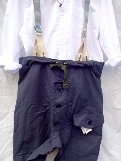 70〜80's Vintage Royal Navy B.I.L (Belstaff)Ventile Trousers with Braces Good Condition / 2