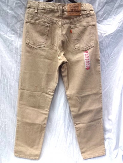 90's Vintage Dead Stock LEVI'S 550 MADE IN U.S.A Brown