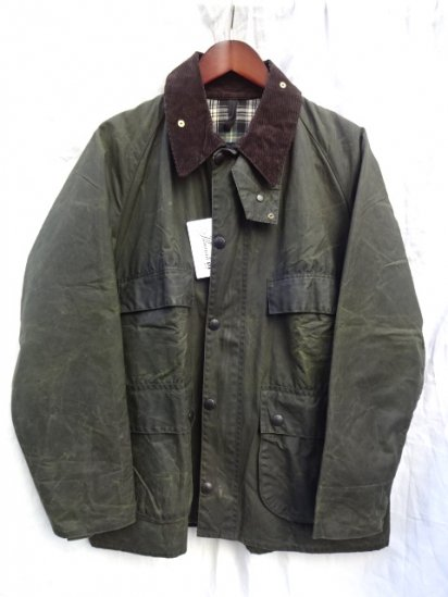 3 Crest Vintage Dead Stock Barbour Old Style BEDALE MADE IN ENGLAND<BR> Olive /2