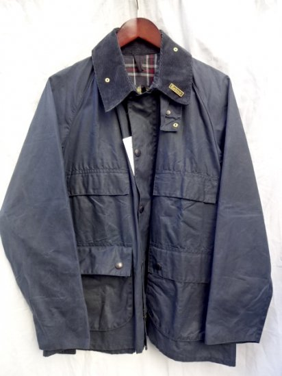 3 Crest Vintage Dead Stock Barbour Old Style BEDALE MADE IN ENGLAND<BR> Navy /4