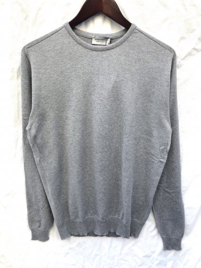 John Smedley Sea Island Cotton Sweater ELEVEN SADDLE SWEATER Made in England Silver