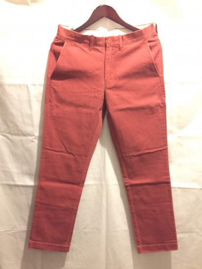 J.Crew Urban Slim Fit (THE SUTTON) Chino Pants F.Red<BR>SALE !! 7,800 + Tax → 5,000 + Tax