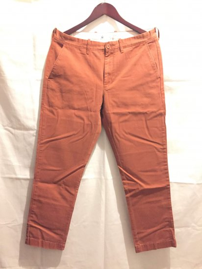 J.Crew Urban Slim Fit (THE SUTTON) Chino Pants Brick<BR>SALE !! 7,800 + Tax → 5,000 + Tax