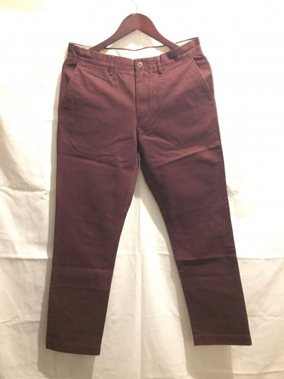 J.Crew Urban Slim Fit (THE SUTTON) Chino Pants Burg<BR>SALE !! 7,800 + Tax → 5,000 + Tax