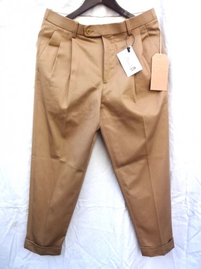 RICHFIELD C-3 Supior Pima Cotton Chino Trousers MADE IN JAPAN Khaki