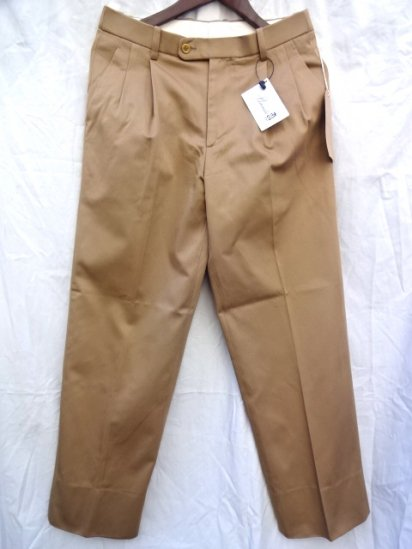 RICHFIELD C-2 Supior Pima Cotton Chino Trousers MADE IN JAPAN Khaki