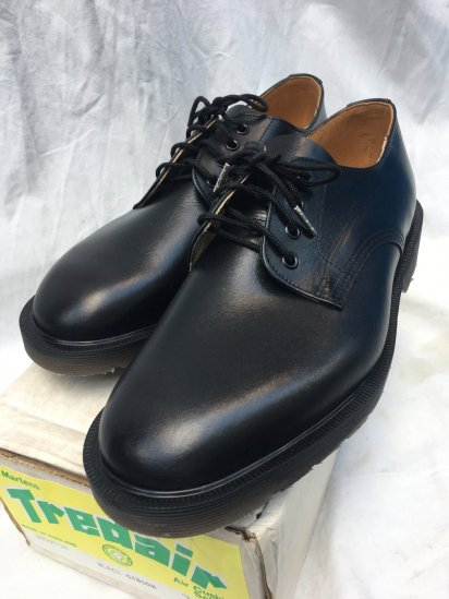 Dead Stock Dr Martens x Tredair Plain Toe Shoes Made in ENGLAND Black