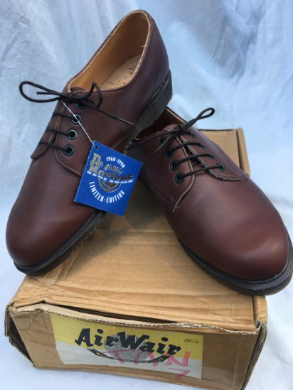 90's Dead Stock Dr Martens Plain Toe Shoes Made in ENGLAND Brown
