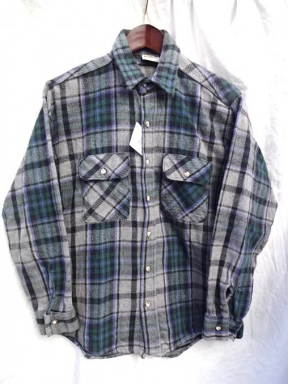 90's old Five Brothers Cotton Flannel Shirts MADE IN U.S.A/1