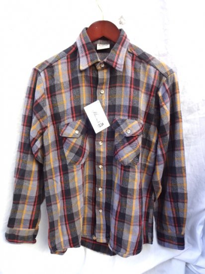 90's old Five Brothers Cotton Flannel Shirts MADE IN U.S.A/2