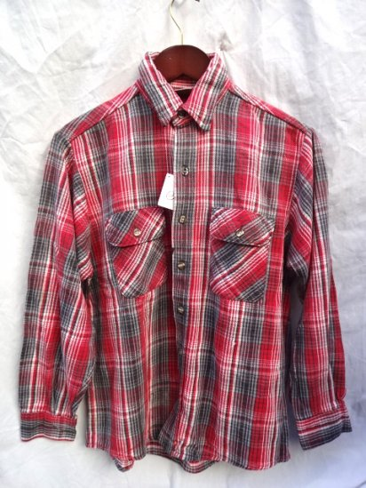 90's old Five Brothers Cotton Flannel Shirts MADE IN U.S.A/ 3