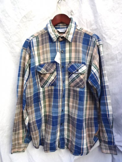 70's〜80's Vintage Five Brothers Cotton Flannel Shirts MADE IN U.S.A/4
