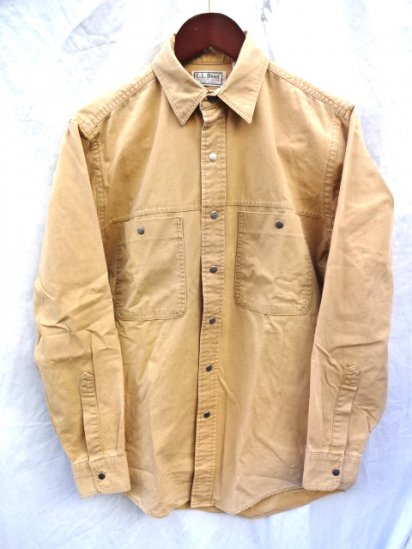 80〜90's old L.L.BEAN Light Duck Shirts MADE IN U.S.A/1