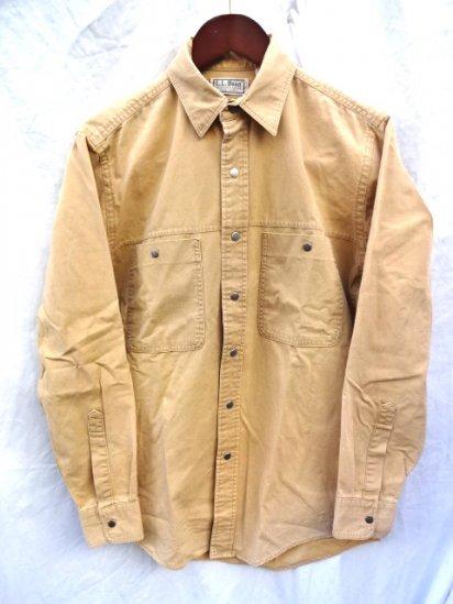 80~90's old L.L.BEAN Light DuckShirts MADE IN U.S.A/1