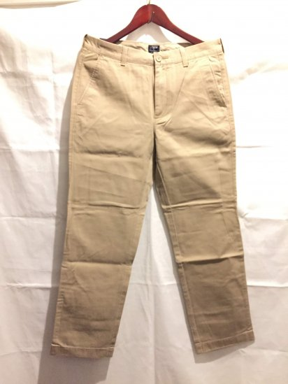 J.Crew THE BLEECKER Chino Pants Khaki<BR>SALE !! 7,800 + Tax → 5,000 + Tax