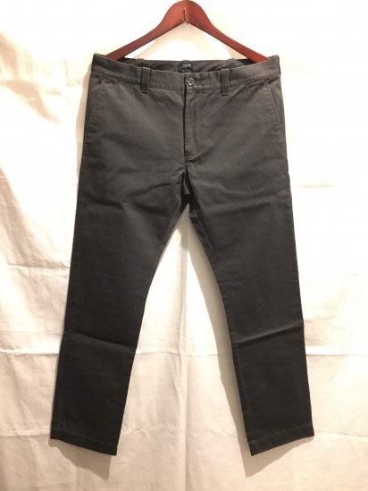 J.Crew THE DRIGGS Chino Pants Black<BR>SALE !! 7,800 + Tax → 5,000 + Tax