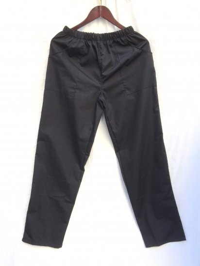 Massaua Poplin Work Pants Made in Italy Black