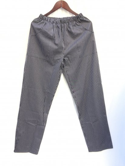 Massaua Poplin Work Pants Made in Italy Black x White Stripe