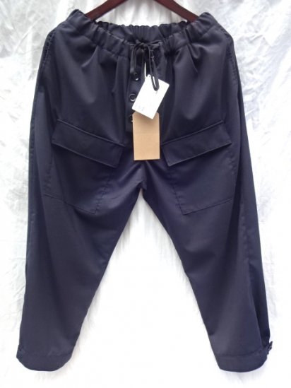 RICHFIELD Military Style Summer Wool Trousers MADE IN JAPAN Dark Navy