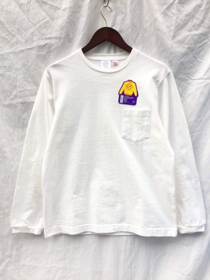 Pannill Pocket Long Sleeve Tee Made in U.S.A White