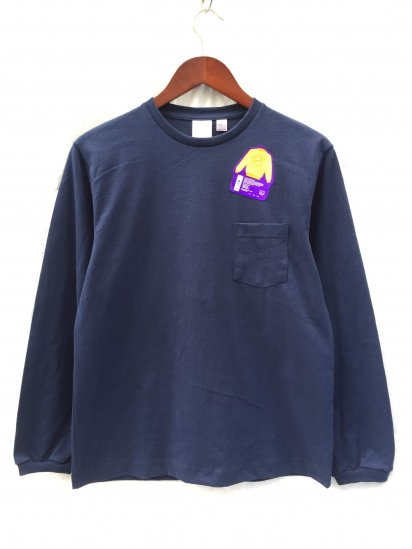 Pannill Pocket Long Sleeve Tee Made in U.S.A Navy