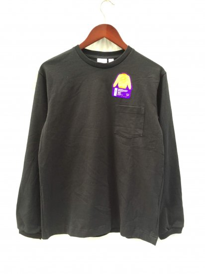 Pannill Pocket Long Sleeve Tee Made in U.S.A Black