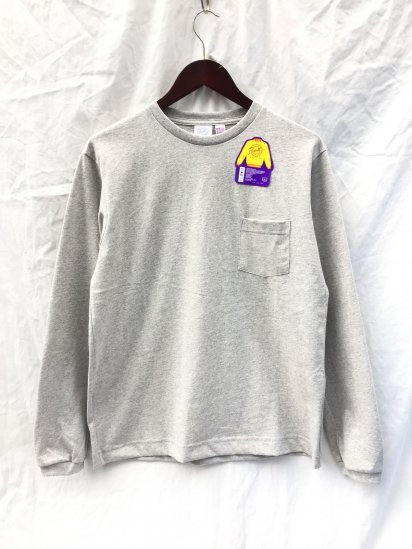 Pannill Pocket Long Sleeve Tee Made in U.S.A Mix Grey