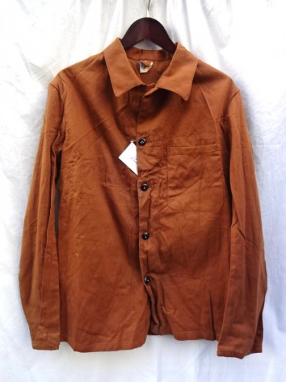 70's Vintage Dead Stock British Prison Department Twill Jacket Brown