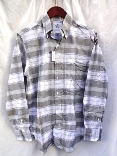 Brooks Brothers Black fleece Oxford B.D SHIRTS Made in USA Gray Check