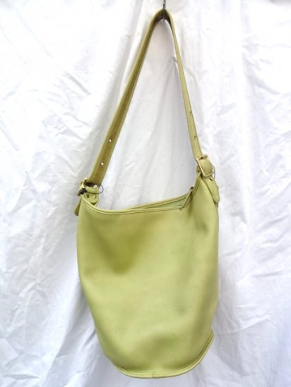 Old COACH Leather Bag MADE IN U.S.A Lime Green