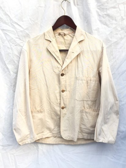 40's Vintage British Work Jacket Natural / 1