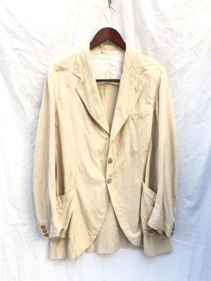 30's Vintage Linen Sack Coat Style Leisure Jacket / 4