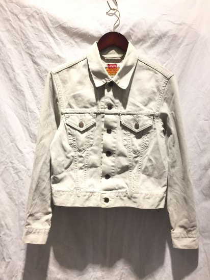 90's OLD Levi's WHITE TAB 70500 Pique Jacket Made in Italy Ivory