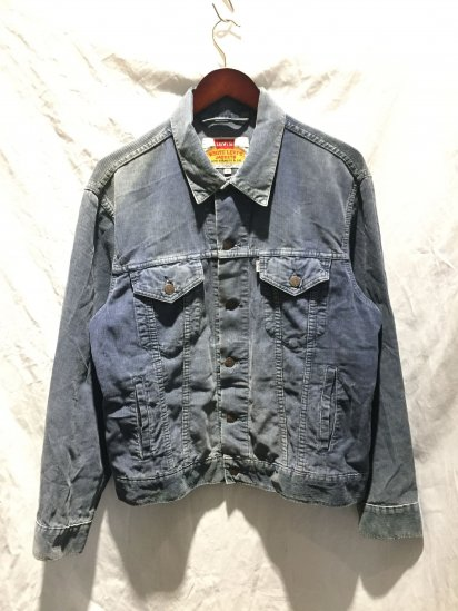 90's OLD Levi's WHITE TAB 70503 Corduroy Jacket Made in Italy Navy