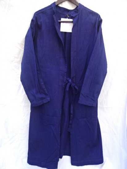 50's ~ 60's Vintage British Work? Hospital?Coat Over Dyed Navy