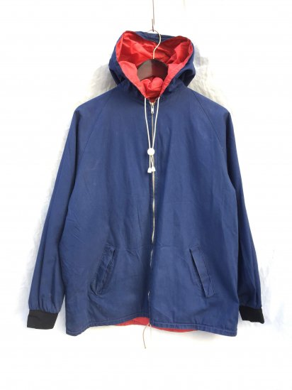 60-70's Vintage Euro Reversible Hiking Parka Navy x Red
