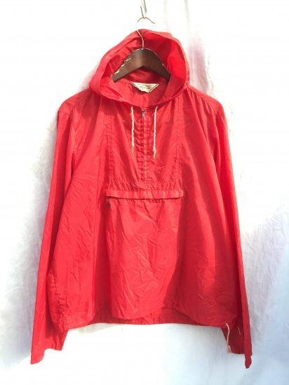 60's Vintage McGREGOR Packable Anorack Parka Made in U.S.A Red