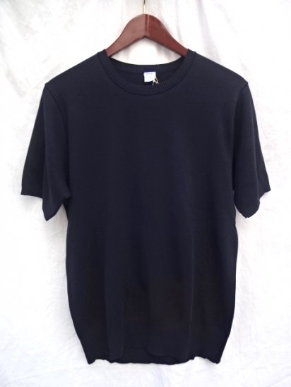 Gicipi Cotton Knit Short Sleeve MADE IN ITALY Black