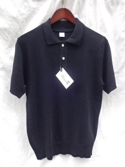 Gicipi Cotton Knit Short Sleeve Polo MADE IN ITALY Black