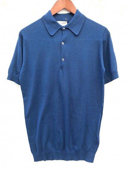 John Smedley Sea Island Cotton Knit Short Sleeve Polo Shirts