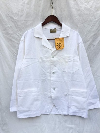 60's Vintage Dead Stock British Work Jacket Made in England White