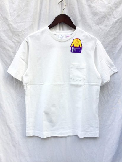 Pannill Pocket Short Sleeve Tee Made in U.S.A White