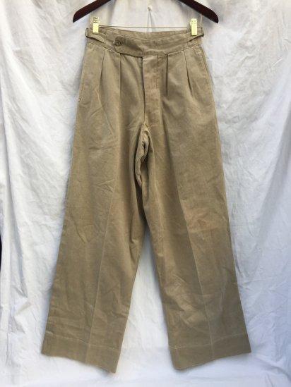 40's ~ 50's Vintage Australian Army Officer Khaki Drill Trousers Khaki